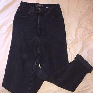 Vintage Route 66 Black Denim Jeans